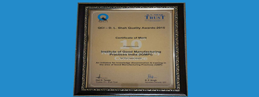 D.L shah national quality certificate
